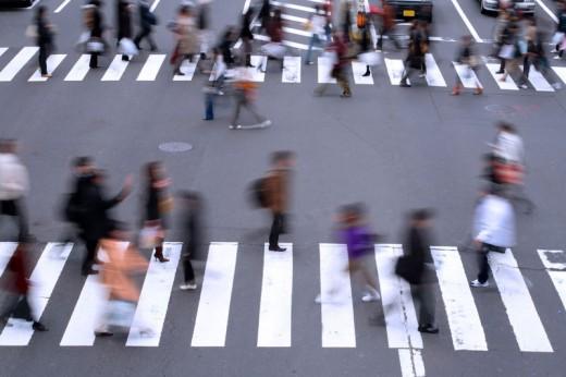 A Busy Street Corner