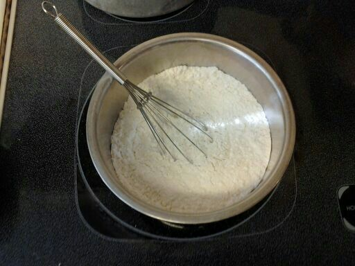 Sifted dry ingredients