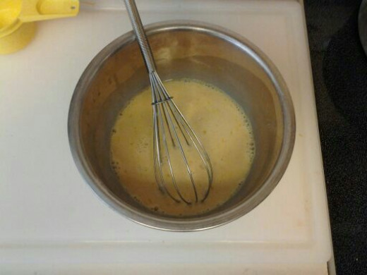 Whisking the wet ingredients together