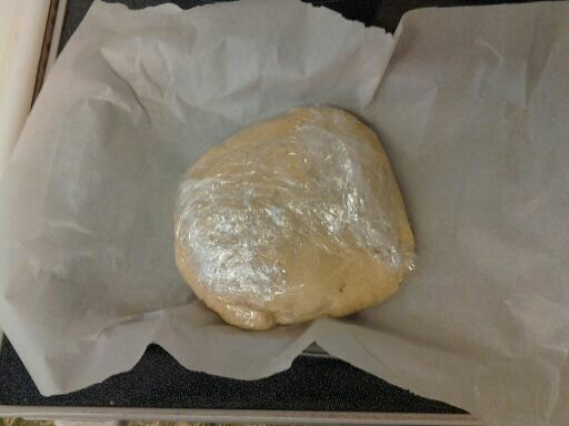 The dough rolled into a disc.