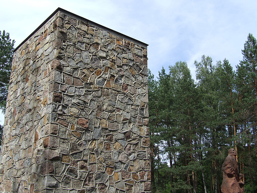 Part of the Sobibor Memorial on the grounds of the former death camp.