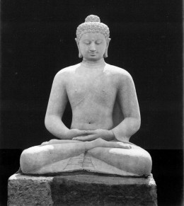 Seated Buddha Amitabha statue, west side of Borobudur, ca. 1863-1866.