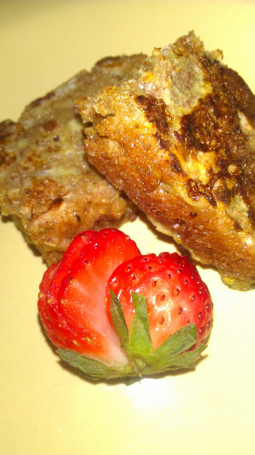 French toast I made with leftover zucchini bread!