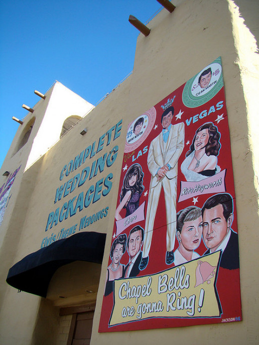 Perhaps you've heard of the Elvis wedding chapel in Las Vegas? It's become a popular venue for an off-the-wall wedding.