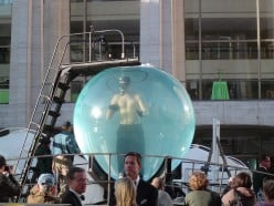 David Blaine in a Bubble