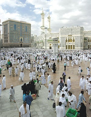 The hustling, bustling centre of modern Mecca.