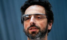 Sergey Brin, Google's co-founder, wearing Glass.