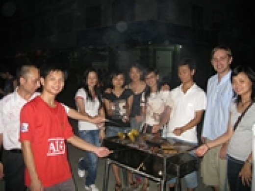 BBQ at the school (Source: Chinared)