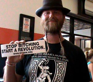 Random man, important message. (2010 Vans Warped Tour, NY)