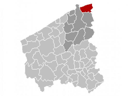 Map location of Knokke-Heist, West Flanders
