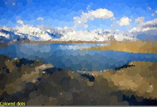 FotoSketcher colored dots rendition