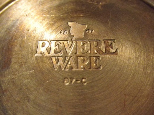 This is what the bottom of a vintage 1801 copper clad kettle looks like