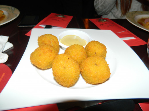 As well as these potato balls