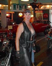 Bad Kitty all dressed up and ready to ride.