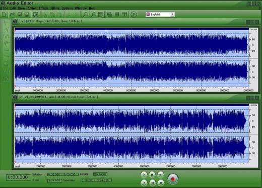 Audio editing screenshot