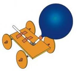 Air Balloon Powered Miniature Car 72