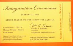 2013 Inauguration Ticket