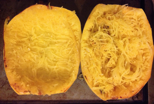 -- All Rights Reserved -- Do Not Distribute -- Spaghetti Squash Fresh from the Oven