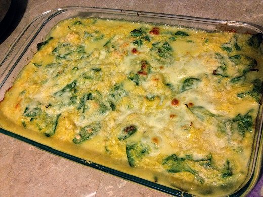 ... : Baked Spaghetti Squash with Baby Spinach and Cheese | hubpages