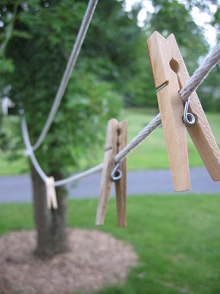 Use a clothesline to dry your clothes.