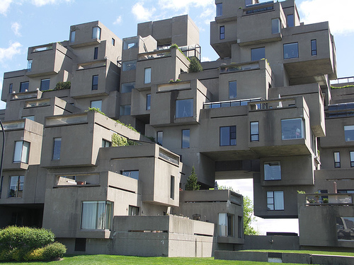 Habitat 67 combines a beautiful residential style and unique in design.