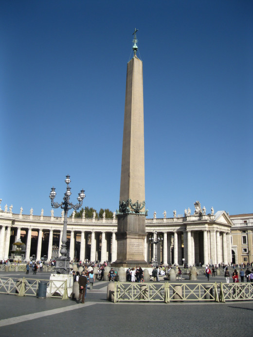 Egyptian Obelisk in St. Peter's Square in Rome