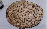 Hand-baked shmurah matza