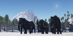 Woolly Mammoths, as painted by Corey Ford.