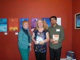 "Author Susan Pace-Koch on left, myself in the middle and Illustrator Jeremy Kwan on the right. The book they collaborated on is ""Get Out Of My Head, I Should Go To Bed"", a wonderful childrens book about dreams."