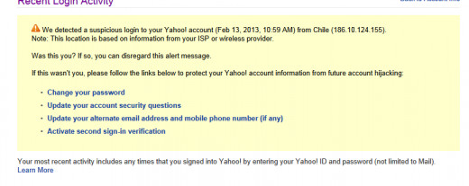 If your email has been hacked, unfortunately, Yahoo does NOT send you a notice, but you can find one when you log back into your account.