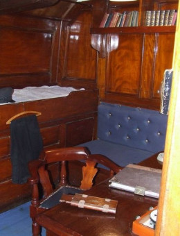 Captain Scott's Cabin aboard RRS Discovery. Is he one of the spirits who visits the ship on occasion?