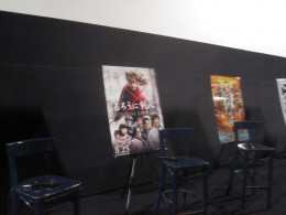 Among the posters displayed is one of the Ruroni Kenshin live action movie.