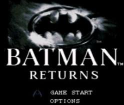 Batman Returns (1993) for the Super Nintendo - Bat, Cat, Penguin
