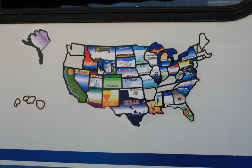 The map of where we visited during our one year plus trip.