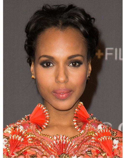 Kerry Washington with up-do