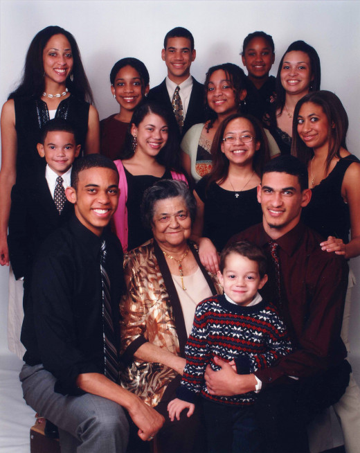Amer Lee and some of her grands