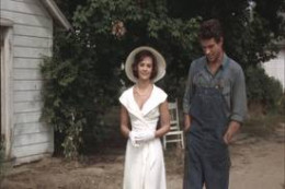 Deanie visiting Bud on his farm with his wife and family. They did not end up together.
