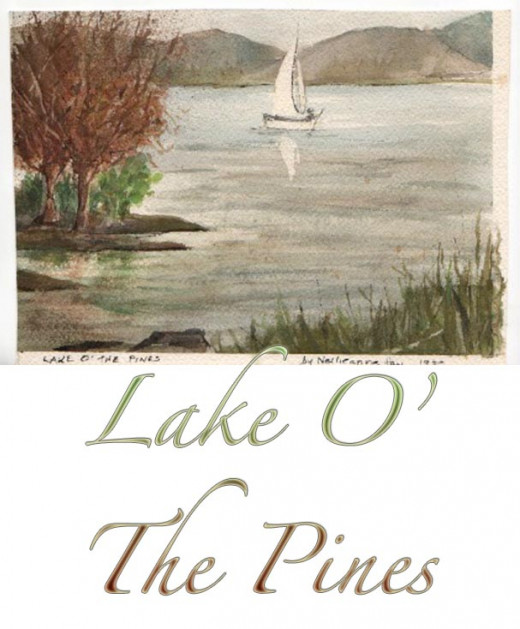 Watercolor sketch at Lake O' the Pines, 1989.