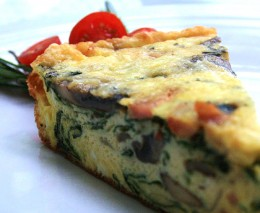 A frittata is just a one pot meal that can be made with any type of ingredients.