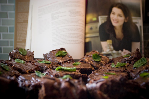 "Brownies from recipe in ""Feast"" by Nigella Lawson"
