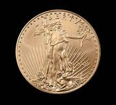 liberty depiction on Gold coin