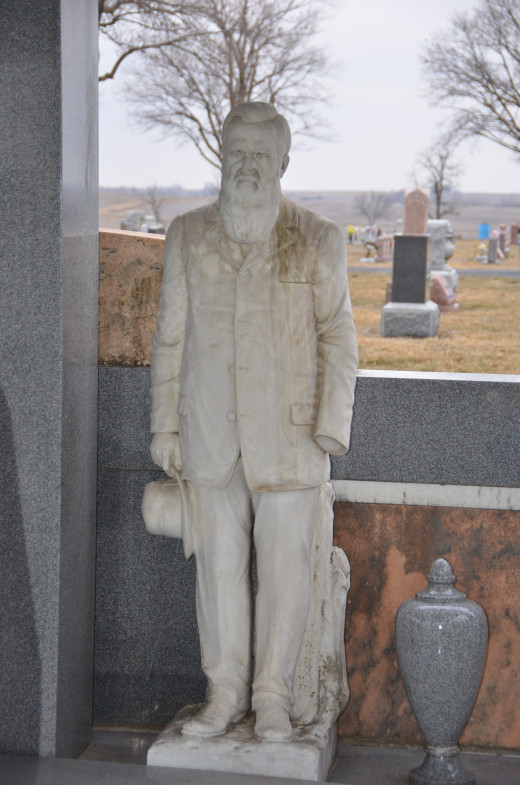 John Milburn Davis after losing his left hand in an accident with a scythe