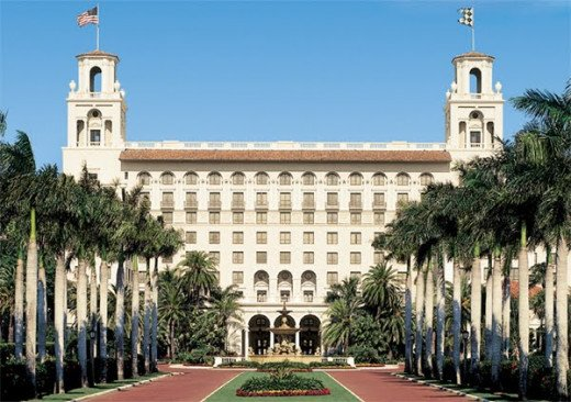 The Breakers Hotel is a Palm Beach landmark.