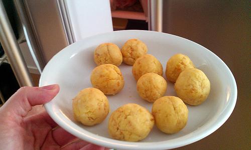 Larger Easter egg cake balls.