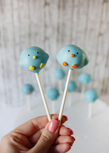 Easter Blue Chick Cake Pops