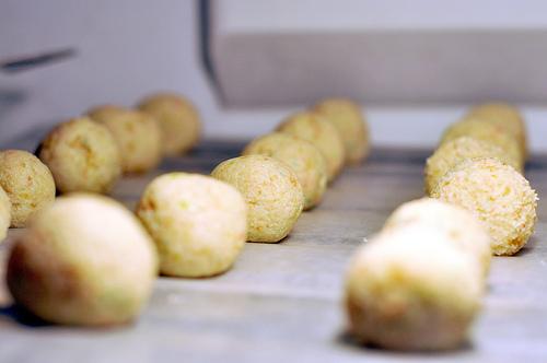 Cake balls prior to lollipop sticks