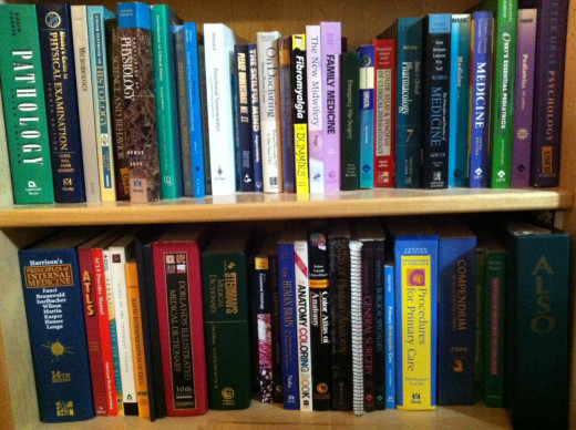 A few of my medical books (I have 3 bookcases more...)