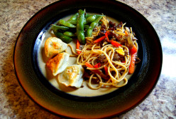 Lamb and Veggie Chow Mein