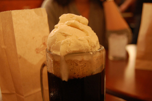 Root Beer Float on a hot summer day.