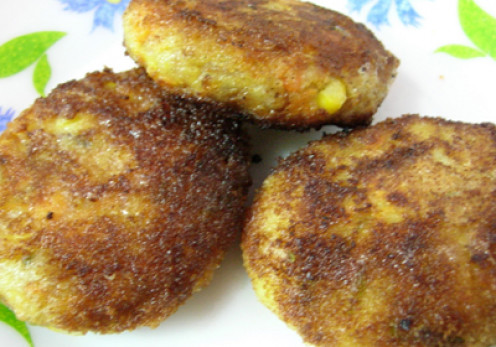 potato-corn-cutlet